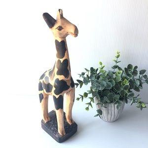 "12"" Wood giraffe"